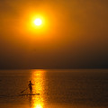 Sunrise Paddler by Ray Konopaske
