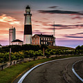Sunrise Road To The Montauk Lighthous by Alissa Beth Photography