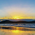Sunrise Seascape And Crepuscular Rays by Merrillie Redden