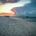 Sunrise Seascape Gulf Shores Al Pier 064a by Ricardos Creations
