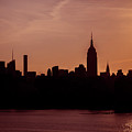 Sunrise Silhouette Nyc. by Chris Rossi