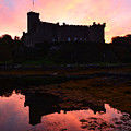 Sunrise Silhouetting Dunvegan Castle S by DejaVu Designs
