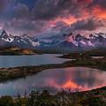 Sunrise Spectacular At Torres Del Paine. by Usha Peddamatham