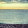 Sunrise Surfing by Rossana Azzoni