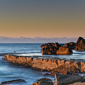 Sunrise, The Sea And Tessellated Rock Platform by Merrillie Redden
