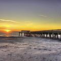 Sunrise Tybee Island Pier by Reid Callaway
