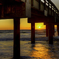 Sunrise Under The Pier  by Tress Chapin