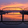 Sunrise Walnut Street Bridge 2 by Tom and Pat Cory