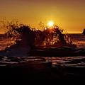 Sunrise Waves Crash  by Chris Bordeleau