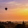 Sunrise With Balloons by Sascha Huber
