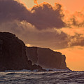 Sunrse And Cliffs by Jim Thompson