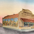 Sunset 38 Grove Pastry Shop by Brian Meyer