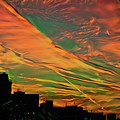 Sunset Above City After A Thunder-storm by Evgeny Parushin