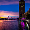 Sunset Along The Riverwalk by Josh Herrington