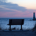 Sunset And Bench by Linda Kerkau