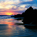 Sunset And Clouds Over Crescent Beach by Panoramic Images