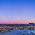 Sunset And Gibbous Moon by Alan Dyer