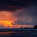 Sunset And Rain by Robert Potts