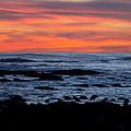 Sunset And Rocks by Samantha Glaze