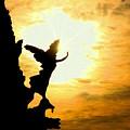 Sunset Angel by Valentino Visentini