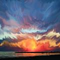Sunset Art Landscape by Justyna JBJart