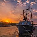 Sunset At Alviso by Ian Aldridge