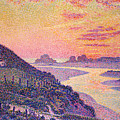 Sunset At Ambleteuse Pas-de-calais by Theo van Rysselberghe