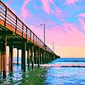 Sunset At Avila Beach Pier by Dominic Piperata