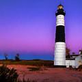 Sunset At Big Sable Light 2 by Susan Rissi Tregoning