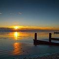 Sunset At Brackesham Bay ,west Sussex ,england  by Philip Enticknap