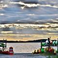 Sunset At Coastal Kayak by Kim Bemis