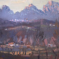 Sunset At Dolomites Belluno by Ylli Haruni