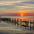 Sunset At Duck Obx by Jeff Breiman