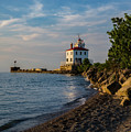 Sunset At Fairport Harbor Lighthouse by Dale Kincaid