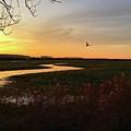 Sunset At Holkham Today  #landscape by John Edwards