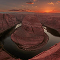 Sunset At Horseshoe Bend by Susan Rissi Tregoning