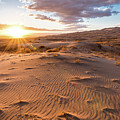 Sunset At Kelso Dunes by Eric Albright