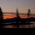 Sunset At Lake Almanor 02 by Peter Piatt