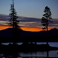 Sunset At Lake Almanor by Peter Piatt