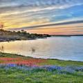 Sunset At Lake Buchanan by Lynn Bauer