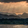 Sunset At Lake District by Jaroslaw Blaminsky
