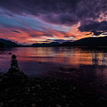 Sunset At Lake Mcdonald by Rick Strobaugh