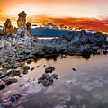 Sunset At Mono Lake by Jim DeLillo