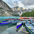 Sunset At Moraine Lake by Paul Quinn