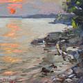 Sunset At Niagara River by Ylli Haruni