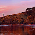 Sunset At North Head Lighthouse by Jeanette Mahoney