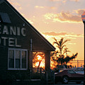 Sunset At Oceanic Motel by Robert Banach