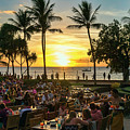 Sunset At Old Lahaina Luau #1 by Eddie Yerkish