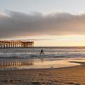 Sunset At Pacific Beach Pier - Crystal Pier - Mission Bay, San Diego, California by Ryan Kelehar