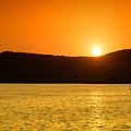 Sunset At Pichola Lake by Yew Kwang